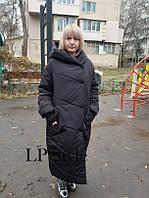 Куртка женская длинная теплая
