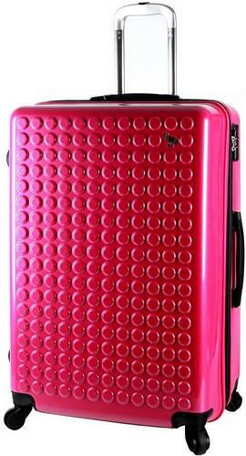 Большой, розовый чемодан на 4-х колесах  92/106 л. Sumdex (Самдекс) SWR-728CP