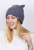Обьемная вязанная женская шапка