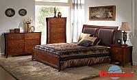 Кровать двухспальная Domini Тициано (античный дуб) (спальное место ШхГ - 1600х2000)