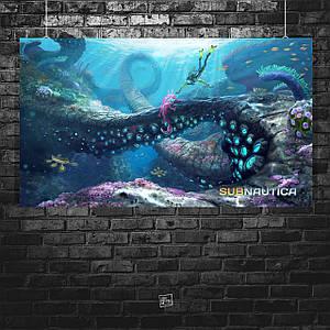 Постер Subnautica. Размер 60x36см (A2). Глянцевая бумага
