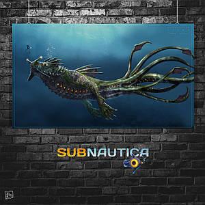 Постер Subnautica. Размер 60x35см (A2). Глянцевая бумага