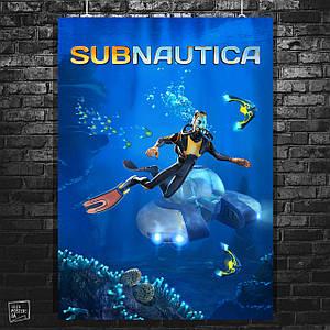 Постер Subnautica. Размер 60x42см (A2). Глянцевая бумага