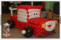 Машинка Газик из воздушных шаров