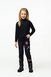 Джинсы для девочки your SPACE 122 см на флисе Черные 1110-1-2, КОД: 306066