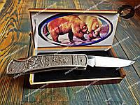 Нож складной 13061 Медведь в Подарочной упаковке