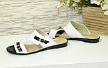 Шлепки женские кожаные от производителя, фото 3