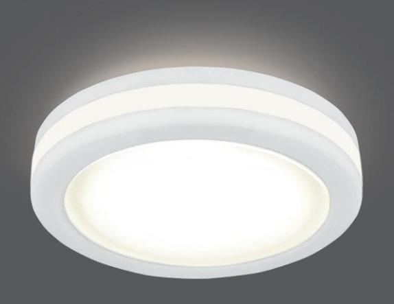 Врезной светильник GAUSS Backlight BL098 5W LED 3000 К круглый белый