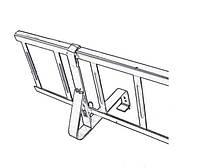 Крепление снегозадерживающей решетки для натуральной черепицы стальное Коричневый