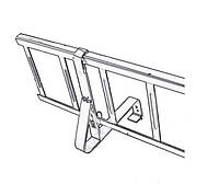 Крепление снегозадерживающей решетки для натуральной черепицы стальное Терракота