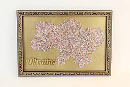 Картина Карта України Маленькая 30х21 см 1002, КОД: 176200