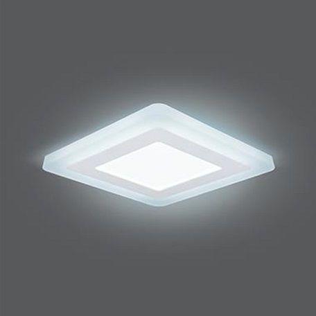 Врезной светильник GAUSS Backlight BL123 LED 9W 4000 К квадрат белый