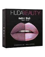 Набор из 4 мини-помад Huda Beauty Matte and Strobe Medusa Set