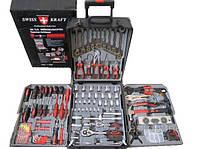 Набор инструментов Swiss Kraft 186 tlg с трещёткой