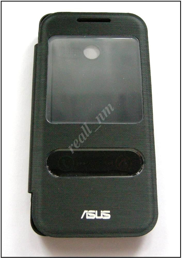 Черный View Flip cover чехол-книжка для смартфона Asus Zenfone 4 A400CXG