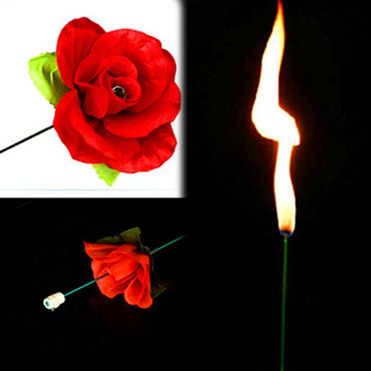 Реквизит для фокусов | Факел превращающийся в розу (красная)