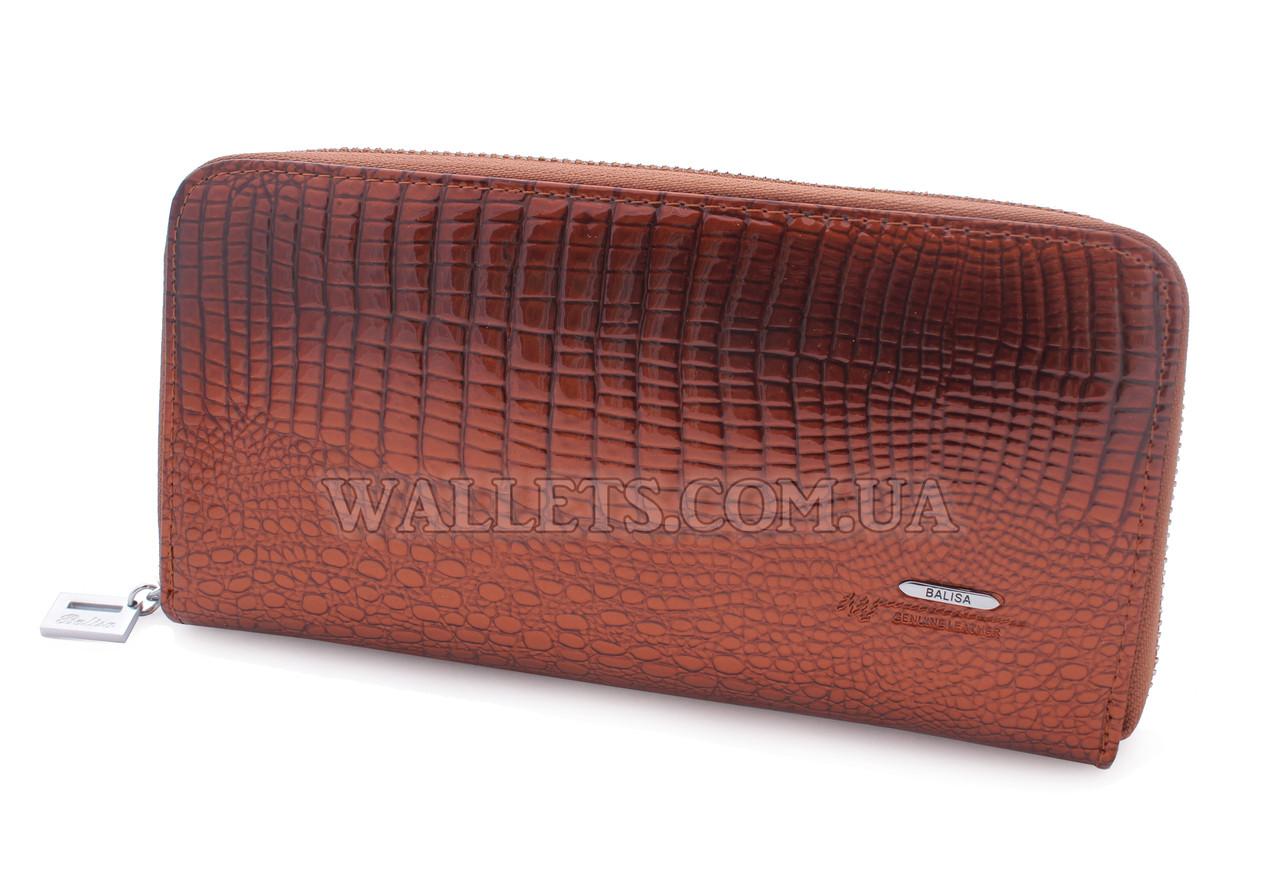 3ab6f1a3143d Женский кожаный кошелек BALISA на молнии, коричневый - Интернет-магазин  «Wallets» в