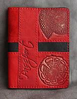 Кожаная обложка для паспорта ручной работы