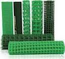Сетка пластиковая  заборная ячейка 10х10 ширина 1 м