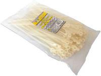 (65016) Стяжка пластикова під гвинт 3.6X200мм біла 100шт.СТАЛЬ
