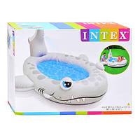 """Детский надувной бассейн """"Акула"""" Intex 57433 с душем"""
