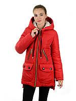 Женская зимняя парка IRVIC 902 44 Красный, КОД: 259575