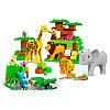 """Конструктор для самых маленьких """"Дикие животные"""" JDLT 5286 83 большие детали, фото 3"""