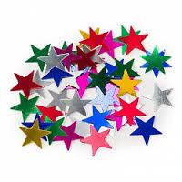 Конфетти Звёзды металлизированные