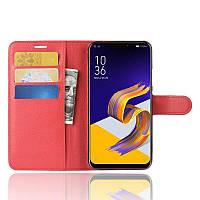 Чехол-книжка Litchie Wallet для Asus Zenfone 5 / 5Z(ZE620KL / ZS620KL) Красный