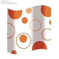 Шторка для ванной оранжевые круги AWD02100817