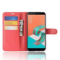 Чехол-книжка Litchie Wallet для Asus Zenfone 5 Lite ZC600KL Красный