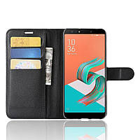 Чехол-книжка Litchie Wallet для Asus Zenfone 5 Lite ZC600KL Черный
