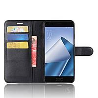 Чехол-книжка Litchie Wallet для Asus Zenfone 4 ZE554KL Черный