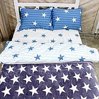 Комплект постельного белья с пледом 180х220 at Home Двуспальный 200х215  (FSK 265 2457) d52025f420f25