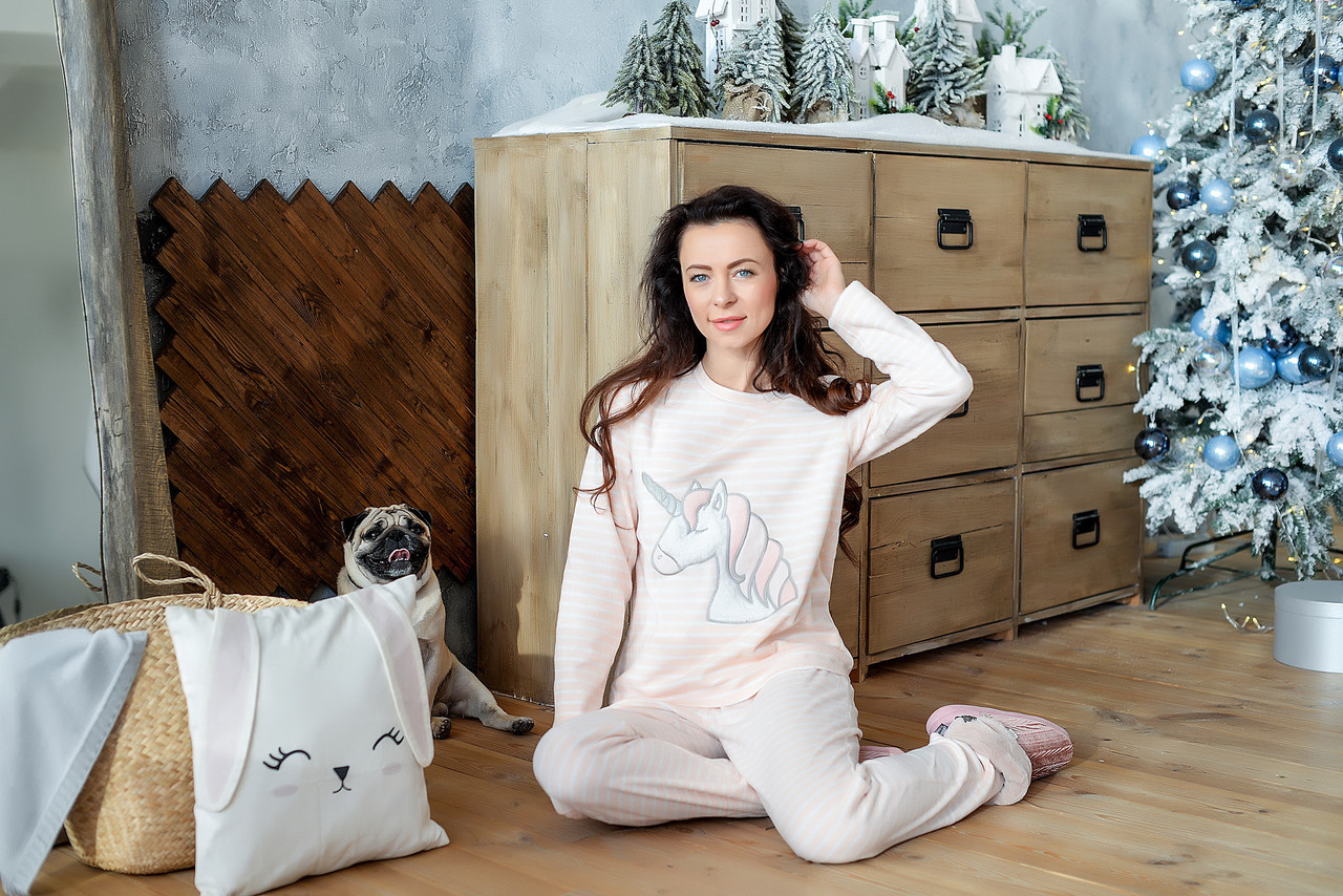 Уютная пижама из флиса с единорогом. Англия. LOUNGEABLE 798256