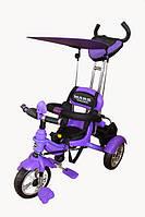 Велосипед 3-х колёсный Mars Trike  надувные (фиолетовий)