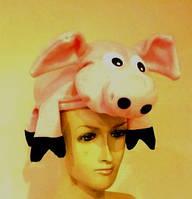 Шапка карнавальня Свинка поросенок