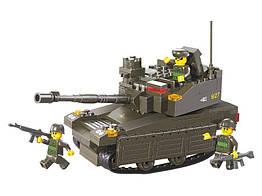 Детский конструктор Sluban Вооруженные Силы Танк Леопард-2А6М M38-B0285 217 деталей 10-59-285, КОД: 285447