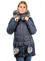 Женская зимная куртка IRVIC N15173 50 Темносерый, КОД: 260944