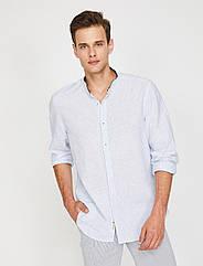 Рубашка Koton S Белая в голубую полоску 8YAM64960OW02M1, КОД: 271616
