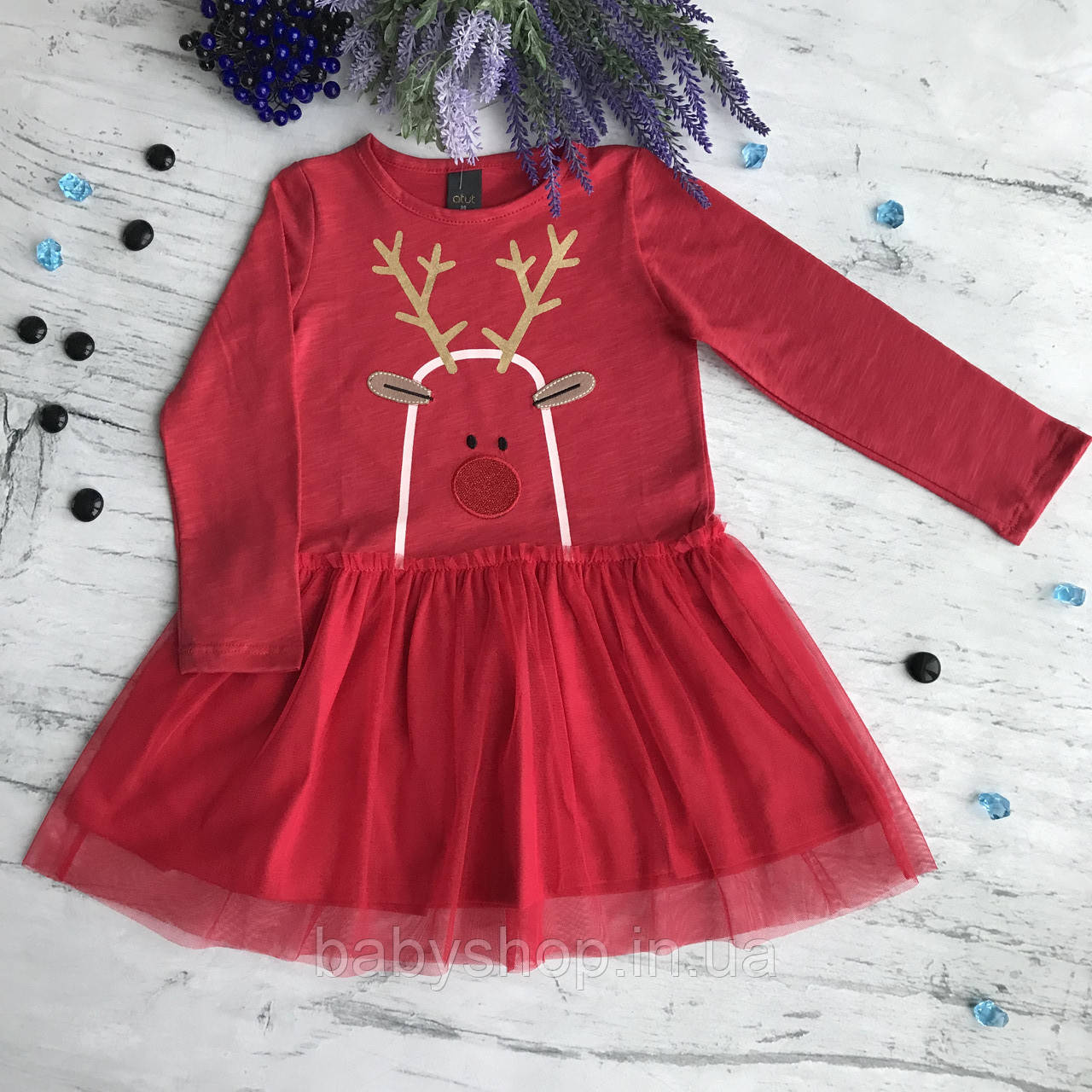Платье Новогоднее на девочку. Размеры 98 см, 104 см, 110 см, 116 см