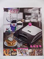 Гриль со съемными пластинами, вафельница DSP KC1051A Maker 2 в 1 модель
