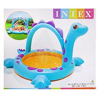 """Надувной детский бассейн """"Динозаврик"""" Intex 57437 с душем"""