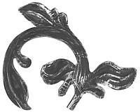 Листок из металла 170мм х 220мм x 2.5мм Арт. AD-51.115