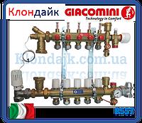 Giacomini Коллектор в сборе для систем напольного отопления 7 выходов