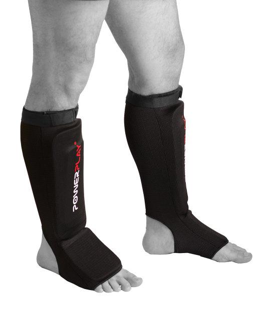 Защита голени и стопы Powerplay / 3054 / BLACK L тканина