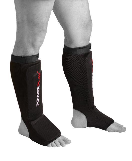 Защита голени и стопы Powerplay / 3054 / BLACK M тканина