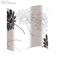 Шторка для ванной цветы AWD02100818