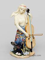 """Фарфоровая cтатуэтка девушка """"Волшебная виолончель"""" (Pavone)"""