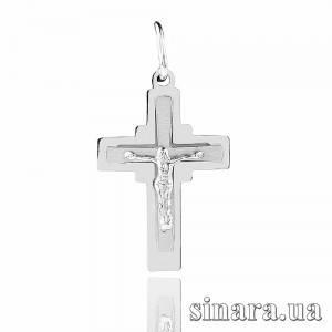 Крестик из белого золота 21026